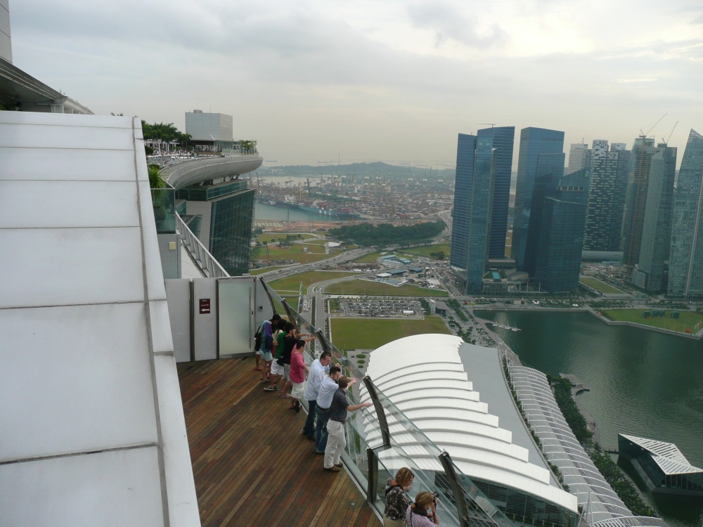 Marina Bay Sands - Observation Deck - Bay side