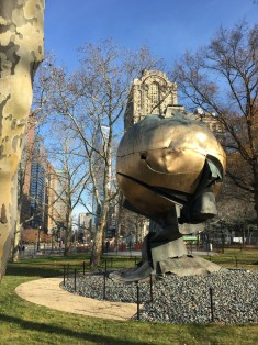 Surviving artwork from WTC in its new home at Battery Park