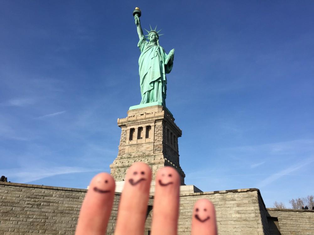 Statue of Liberty group shot