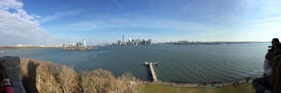 View of Manhattan from Liberty Island