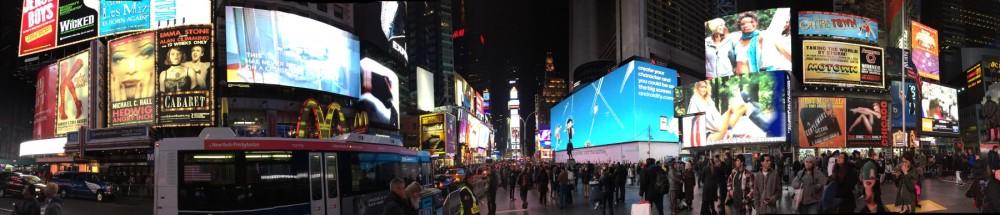 Time Square night panorama