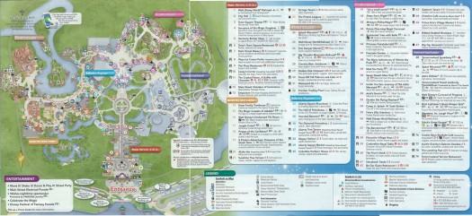 WDW MK Guidemap - Back