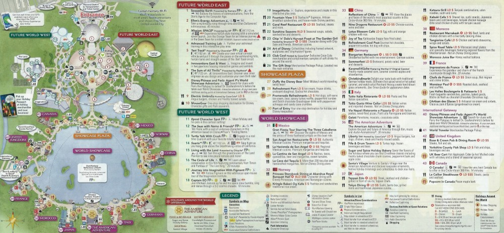 WDW EP Guidemap - Back