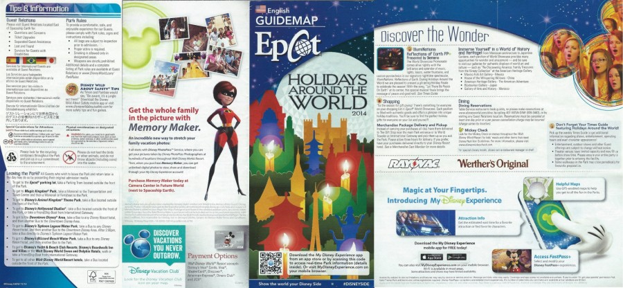 WDW EP Guidemap - Front
